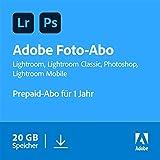 Adobe Creative Cloud Foto-Abo mit 20GB: Photoshop und Lightroom | 1 Jahreslizenz...