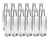 12 leere Glasflaschen Flaschen Maraska 250ml & ETIKETTEN zum Beschriften incl....