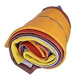 Langlauf Schuhbedarf Lederstücke mittel 1 kg bunt - farblich gemischt - alle...