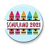Polarkind Button Anstecker Schulkind 2021 Buntstifte Geschenk zum Schulanfang...