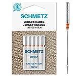 SCHMETZ Nähmaschinennadeln | 5 Jersey-Nadeln | 130/705 H SUK | Nadeldicke 80/12...