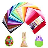 SOLEDI 41 Farben Filzstoff Filztuch Geeignet für Nähen, 15*15cm Felt Fabric...