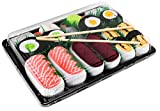 Rainbow Socks - Damen Herren - Sushi Socken Lachs Tamago Thunfisch 2x Maki -...
