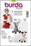 Burda Schnittmuster 7038Perücke Kuscheltier Schaf–Esel & Toys Größen:...