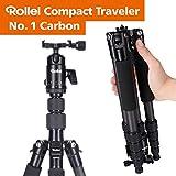 Rollei Compact Compact Traveler No I Carbon I Schwarz I Leichtes-Reisestativ I...