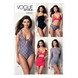 Vogue Patterns 9192A5 Vogue Muster 9192 A5, Damen, Oberteil, Badeanzug, Hose und...