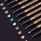 Metallic Marker Stifte Set, ANYUKE 10 Farben Permanent Brush Pen für Fotoalbum...