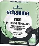 Schauma Festes Shampoo für Haare, Körper & Gesicht 3in1 Intensive Reinigung,...