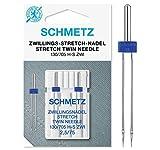 SCHMETZ Nähmaschinennadel | 2 Zwillings-Stretch-Nadeln 2,5/75 | 130/705 H-S ZWI...