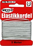 5m Elastikkordel silber 1mm ME936-31