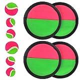 TIMESETL 10Stück Klettball Set Klettballspiel für Kinder, Neopren Klett Ball...