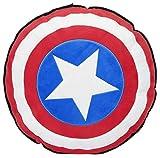 Marvel Kissen Captain America Shield, Schwarz, 1 Stück (1er Pack)