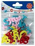 Stylex 46465 - Zahlen aus Filz, mit den Ziffern von 0 - 9, 48 Stück sortiert in...