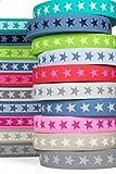 Sehr hochwertiges elastisches Gummiband mit Sternen 40 mm beidseitig verwendbar...