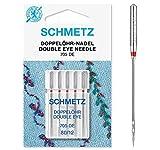 SCHMETZ Nähmaschinennadeln Doppelöhr-Nadeln | 705 DE | 5 Doppelöhr-Nadeln |...