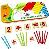 Natureich Montessori Mathe Spielzeug Holz Metallbox zum Aufbewahren Zahlen...