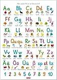 Fragenbär-Lernposter: Mein großes ABC in der Grundschrift (GS), L 70 x 100 cm...