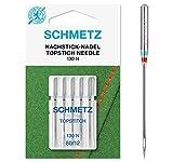 SCHMETZ Nähmaschinennadeln | 5 Nachstick-Nadeln (5 Topstitch-Nadeln) | 130 N |...