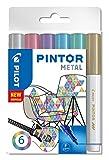 Pilot Pen PINTOR, Kreativmarker - Fine Line Bullet Paint Marker Fein Metallic,...