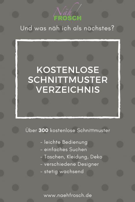 Freebooks und kostenlose Schnittmuster - NÄHFROSCH