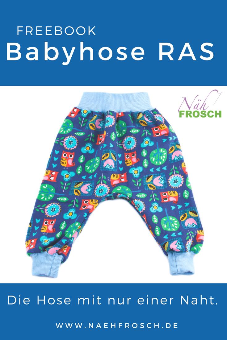 Babyhose Nähanleitung - Wie du in nur 30 Minuten ganz einfach die Babyhose RAS nähst!
