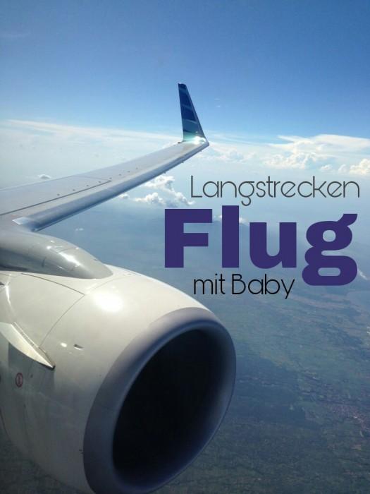 Langstreckenflug mit Baby