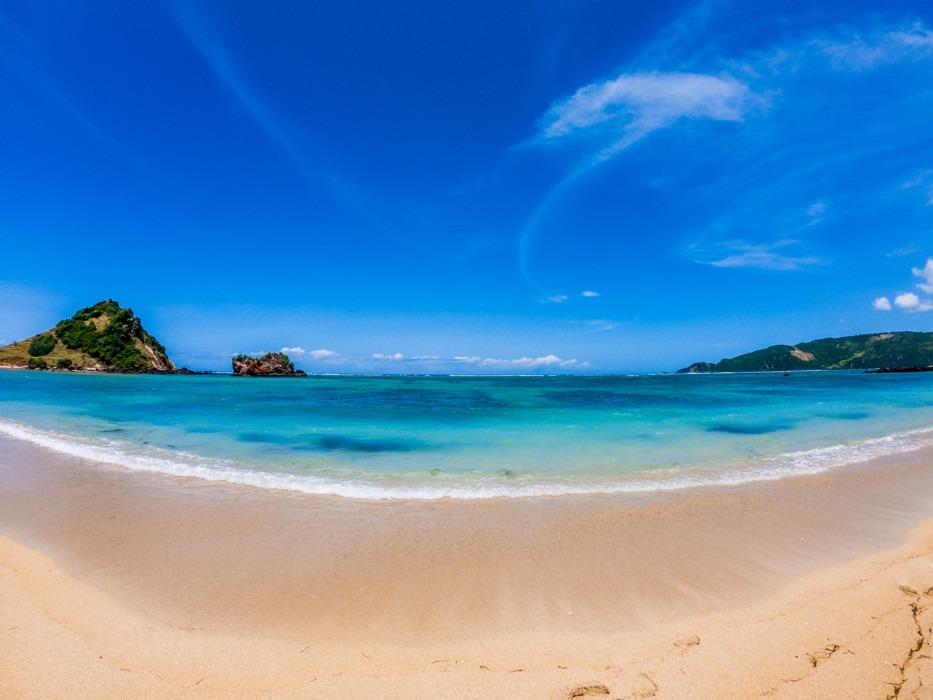 Strand Lombok Fisheye