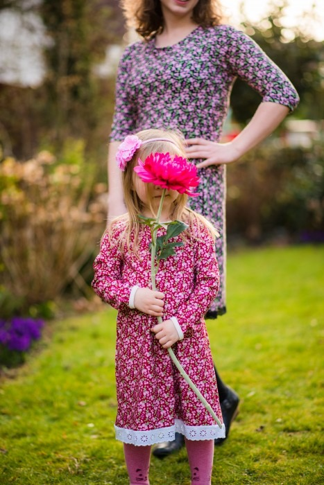 Cherry Picking loves to paint nähen sewing for kids milchmonster klimperklein kleid