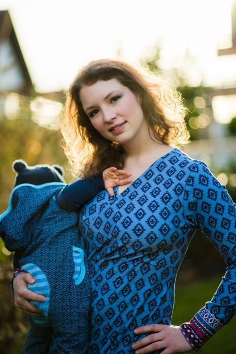 Damen blaues Kleid