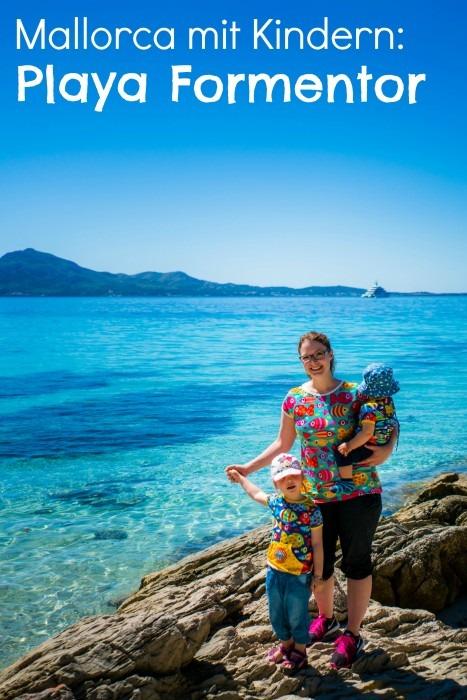Naehfrosch Playa Formentor Strand Mallorca mit Kindern