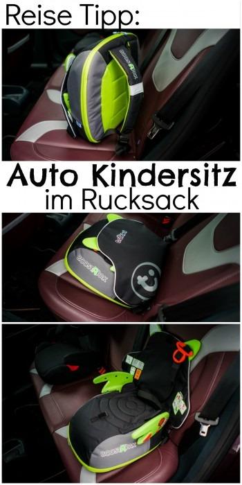 Auto Reise Kindersitz im Rucksack BoostAPak Trunki Reisekindersitz Travel Carseat in bagpack
