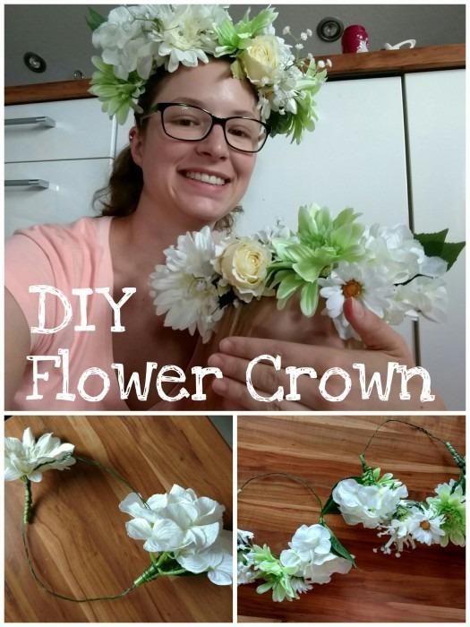 DIY Flower Crown Blumenkranz Blumenkrone Kopfschmuck Hochzeit Fotoshooting Basteln mit Kind
