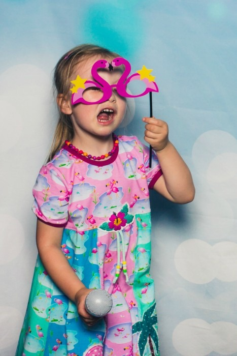 Flamingo Party Kinder Geburtstag Fotobox Swafing