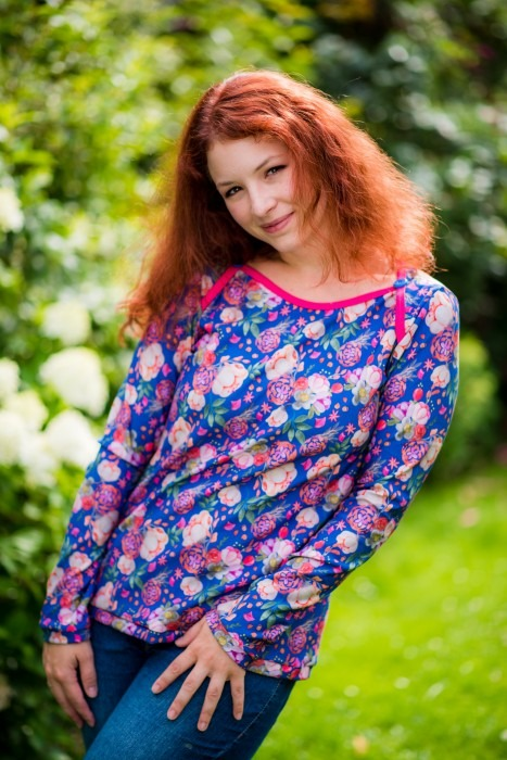 Nähen Lady Ophelia Mialuna Farbenmix Loves to Paint Cherry Picking Swafing Modal Sweat