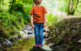 Kindershirt nähen: Jersey mit großen Punkten für Sophia