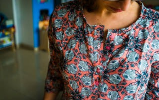 Einfache Bluse aus Viskose Webware