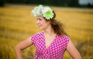 Kleid aus Viskose nähen: Bohemian Summer von Lila Brombeerwölkchen genäht