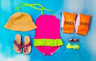 Badeanzug nähen: Badeanzug für Mädchen aus Badelycra nähen