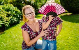 Luftige Shirts mit Flügelärmeln aus Viskose Jersey für Mutter und Tochter