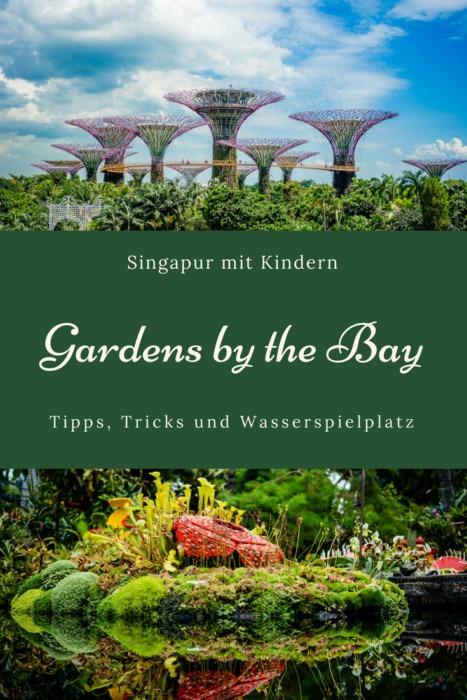 Die Gardens by the Bay sind ein großer Park in der Nähe des Marina Bay Sands. Hier findet man die beiden riesigen (klimatisierten!) Gewächshäuser Flower Dome & Cloud Forest, sowie die bekannten Super Trees mit dem OCBC Skywalk, der besonders abends ein Highlight ist. Den Park kann man kostenfrei betreten und in der wirklich schönen Anlage mit verschiedenen Gärten den ganzen Tag verbringen. Das haben wir gemacht, und uns zwischendurch im Wasserspielplatz abgekühlt! Viele (Spar)Tipps im Blog!