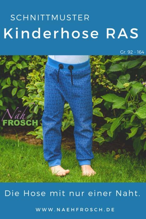 Kinderhose nähen: Nähanleitung Kinderhose RAS
