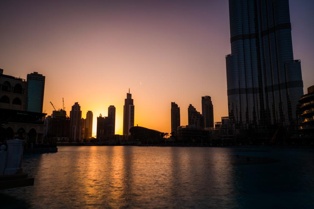 Belichtungszeit Verschlusszeit Skyline Dubai
