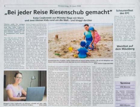 Münsterer Anzeigebaltt Nähfrosch