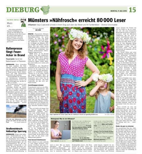 Main Echo Nähfrosch Zeitungsbericht