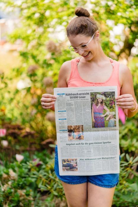 Nähfrosch Presse Zeitungsbericht Offenbach Post