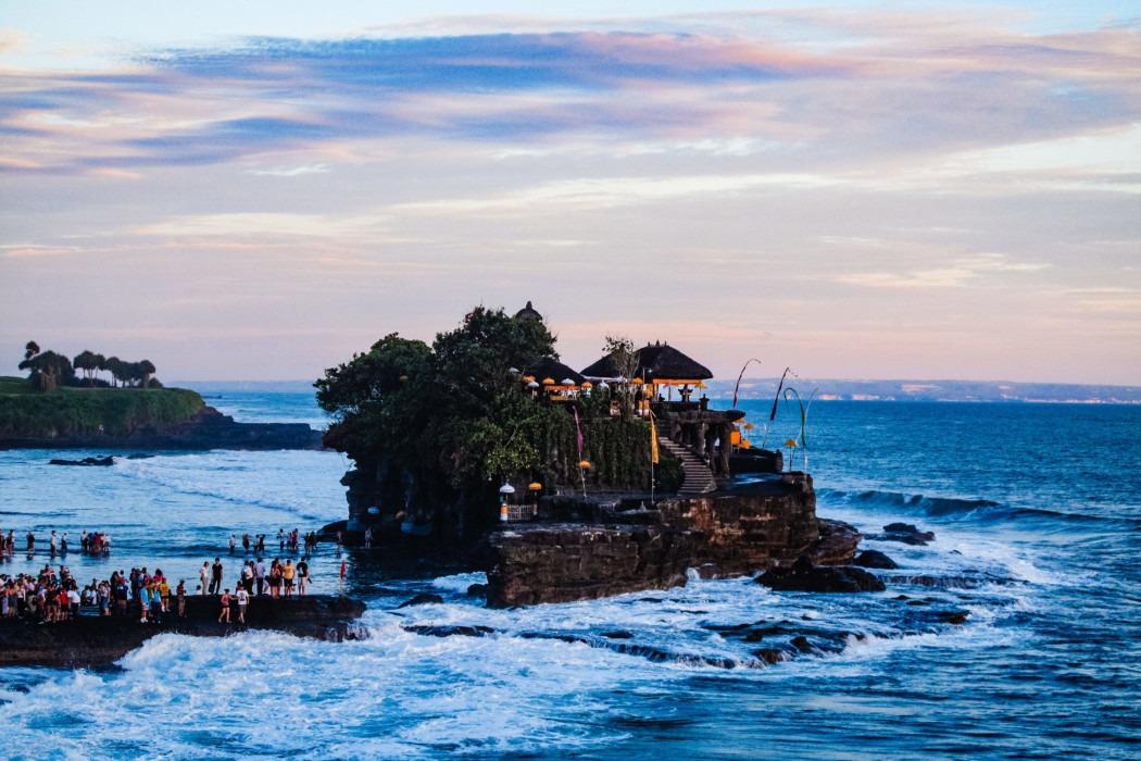Tanah Lot auf Bali bei Tag