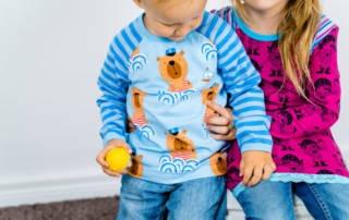 Piraten Stoff für Junge und Mädchen: So süß ist das Geschwisteroutfit