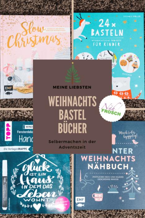 Adventszeit ist Bastelzeit. Und da Weihnachten sich mit großen Schritten nähert, stelle ich hier meine liebsten Bastelbücher für Weihnachten 2018 vor! Vorlagen für den Kreidemarker, Basteln mit Kindern, ganz einfache Nähideen und entschleunigte Bastelzeit. Entdecke meine Lieblingsbücher!