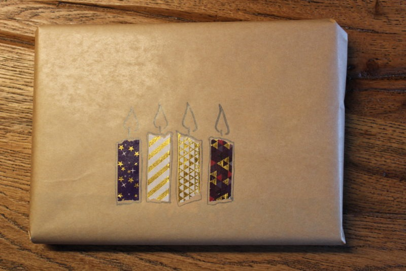 Geschenke verpacken mit Packpapier 10