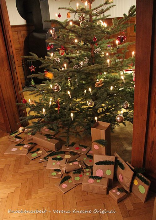 Geschenke verpacken mit Packpapier 13